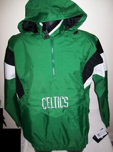 BOSTON CELTICS Starter LIGHT WEIGHT Half Zip Pullover Jacket GREEN