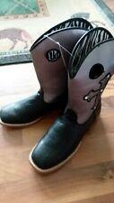 Blazin Roxx Western Boots girl sz 3.5 Cowboy Boots Youth black/purple 4471201