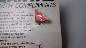 Vintage QANTAS Badge With Card