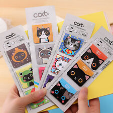 3 Pcs Magnetic Bookmarks - Cartoon Cats Cat Page Holder Book Magnets Marks
