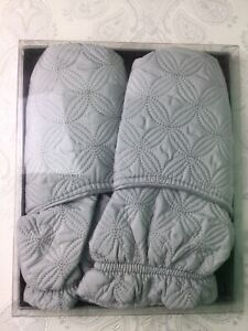 Soothing Microwave Booties Slippers Warm Wheat New Boxed Grey Aromatherapy V42