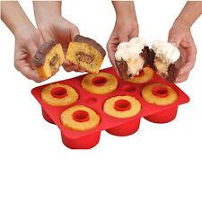 6-Cavity Silicone Mold Mini Bundt Savarin Cake Muffin Chocolate Baking Pan Mould