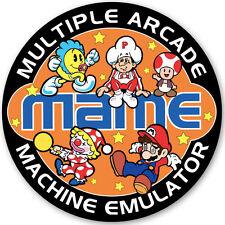 MAME - Retro Video Arcade Game Character Sticker - 95mm Diameter - Gaming Orange