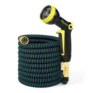 Garden Hose Expandable Magic Flexible High Pressure Car Wash Spray Gun 3 Times