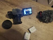 Sony Cyber-shot ZV-1 + wide angle lens adapter & 2 additional batteries