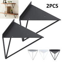 2PCS Durable Hairpin Industrial Wall Shelf Bracket Support Metal Prism Mount