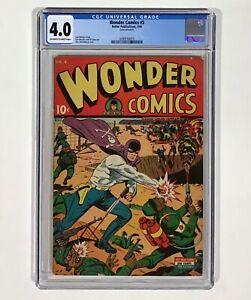 Wonder Comics #5 CGC 4.0 RARE!! (Alex Schomburg WWII 2 cover!) 1945 Better Pub.