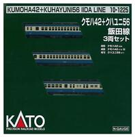 Kato 10-1225 Kumoha 42 Kuhayuni 56 Kumoha 530000 Kuha Iida Line 3 Cars Set - N