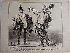 DAUMIER LITHOGRAPHIE ORIGINALE TIRAGE SUR BLANC, ACTUALITÉS N° 60, 1859