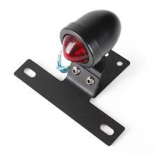 12V Motorcycle Rear Tail Stop light Lamp Brake w/ Plate Holder For Bobber Cafe