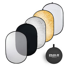 """Phot-R 150x200cm (60""""x80"""") PRO 5-in-1 Photo Studio Collapsible Reflector + Case"""
