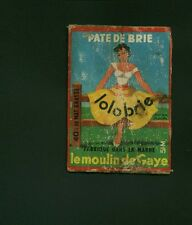 Etiquette de Fromage Ancienne   Pate de Brie Lolobrie    No 354
