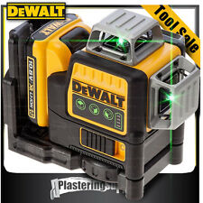 DeWALT Green Beam Cross Line Laser 10.8V x3 360 1080 Self Levelling DCE089D1G-XE