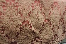"100% SILK DAMASK ITALIAN FABRIC MYRTLE 54""UPHOLSTERY P71503 THE BY YARD"