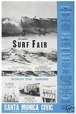 Brian Wilson & The Beach Boys at Surf Fair in Santa Monica Poster 1963 12x18