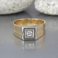 Ring mit ca. 0,10ct Brillant W-si in 750/18K Weiß-/Gelbgold / Massiv
