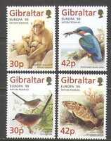 Gibraltar 1999 Europa/Parks/Birds/Fish/Apes/Nature/Animals 4v set (n22944)