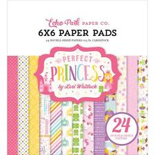 Scrapbooking Crafts Ep 6X6 Paper Pad Perfect Princess Unicorns Fairies Frogs Dot