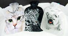 Wärmeflasche mit Bezug 2 Liter Fotodruck Hund Katze oder Leopard Geschenkidee