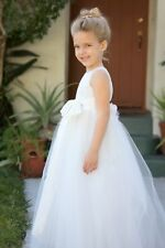 Floral Lace Heart Cutout Flower Girl Dress Girls Lace Dresses Recital Dresses