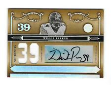 Willie Parker 2006 NATIONAL TREASURES JERSEY AUTOGRAPH #/39 SIGNED Steelers AUTO