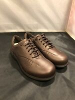 New Balance ARAVON Womens Sz 6.5 D Walking Shoes Comfort Brown Leather WEF07RB
