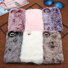 Bling Lovely Rabbit Plush Fur Soft Diamond Case Cover For Huawei Various Phones