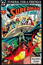 1993 SUPERMAN #76 ~ Death Of Superman ~ FUNERAL FOR A FRIEND ~ 9.4 NM ~ @LOOK@