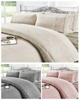 Grace Fleece TEDDY BEAR Quilt Duvet Cover + Pillowcase Warm Cozy Thermal Winter