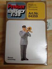 1:35 Preiser 64359 Posaune Militär. Unbemalt. Bausatz. OVP