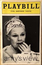 Judi Dench Signed AMY'S VIEW Broadway Playbill RARE!