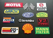12 x MOTOR RACING MOTOR SPORT GOODWOOD SEW / IRON ON PATCHES:- COLLECTION B