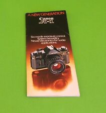 Canon A-1 Instruction Booklet