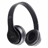 Over Ear Foldable Stereo Noise Cancelling Headset Bluetooth Wireless Headphones