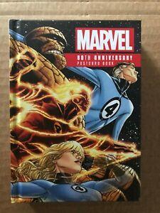 MARVEL 80TH ANNIVERSARY POSTCARD BOOK HC (NEW) X-MEN FANTASTIC FOUR AVENGERS