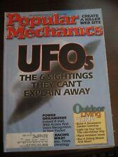 Popular Mechanics Magazine July 1998 UFOs 6 Sightings They Can't Explan Away W5