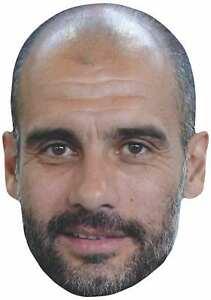 Pep Guardiola 2D Simple Carte Fête Masque Visage - Manchester Football Manager