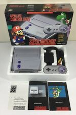 Super Nintendo SNES Console System Mini In Box Boxed Complete CIB + Mario World