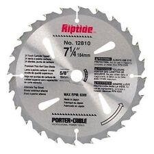 """NEW! PORTER CABLE Riptide Saw Blade 7-1/4"""" 24-Tooth 12810"""