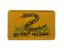 No Step On Snek Military Funny Patch with Hook Fastener Backing embroidery