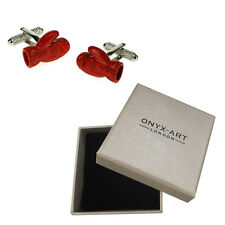 Mens Red Boxing Glove Boxer Gloves Cufflinks & Gift Box By Onyx Art