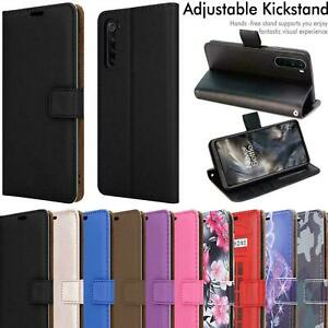 For OnePlus Nord 5G Case Magnetic Flip Leather Wallet Phone Cover + Screen Guard