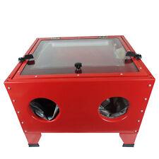 Portable Sandblaster Sand Blaster Blasting Cabinet Bead SandBlasting LED 90L