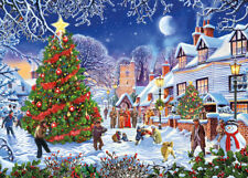 GIBSONS THE VILLAGE CHRISTMAS TREE 1000 PIECE JIGSAW PUZZLE BY STEVE CRISP G6224