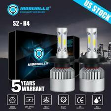 2PCS CREE H4 9003 HB2 LED Headlight HI-LO Bulbs 2100W 315000LM White 6500K Light