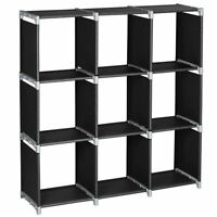 3Tiers Multi-Cube Stackable Storage Organizer Shoes Clothes Shelving Rack Closet