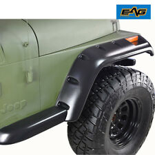 "EAG 87-95 Jeep Wrangler YJ Fender Flare 6PCS 6"" Wide Black Pocket Rivet Style"
