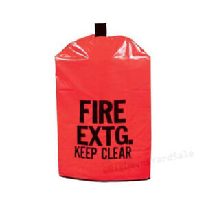 (Lot of 10 Covers) FIRE EXTINGUISHER COVERS (NO Window) for 10 to 20lb Extg.
