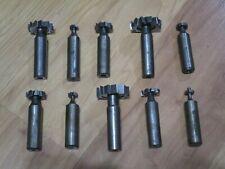 10 Good Used Woodruff Keyway Key Seat Cutters Machine Cutting Tools Usa Lot A
