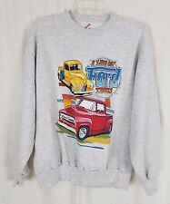 Vintage 1989 Air Waves I Like Ol' Ford Trucks Gray Graphic Sweatshirt Mens L Old